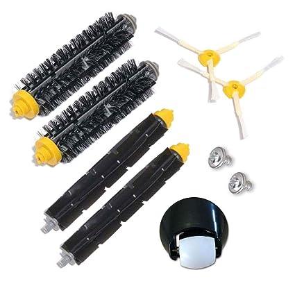 Kit de cepillo y montaje de rueda delantera para iRobot Roomba 500 600 700 Serie 529 550 595 620 625 630 650 660 760 770 780 790 Accesorios de aspiradora ...