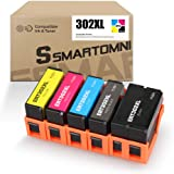 [New Chip] S SMARTOMNI Remanufactured 302XL Ink Cartridge Replacement for Epson 302 XL T302XL T302 5 Packs (Black Photo Black