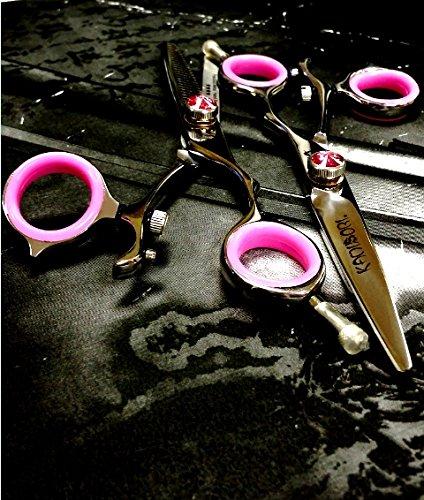 kamisori-k-4s-titanium-cahira-swivel-55-27t-salon-texturizer-55-shear-set