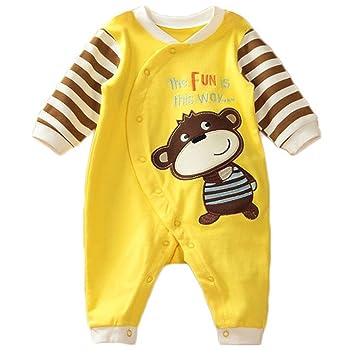7fa3f75930 Baby Jungen Schlafstrampler Schlafanzug für Mädchen, Einteiler langarm Schlafoverall  Baby-Nachtwäsche, 0-