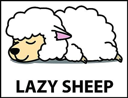 Amazon com: Cute Sleepy Lazy Sheep Cartoon Vinyl Sticker (2