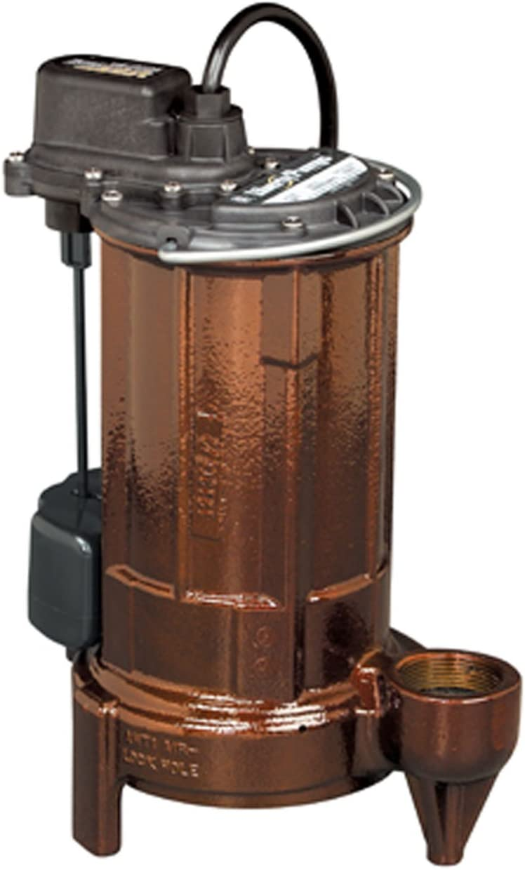 Liberty Pumps 283 Wide Angle Float 1/2 HP Mid Range Head Submersible Sump/Effluent Pump, 1