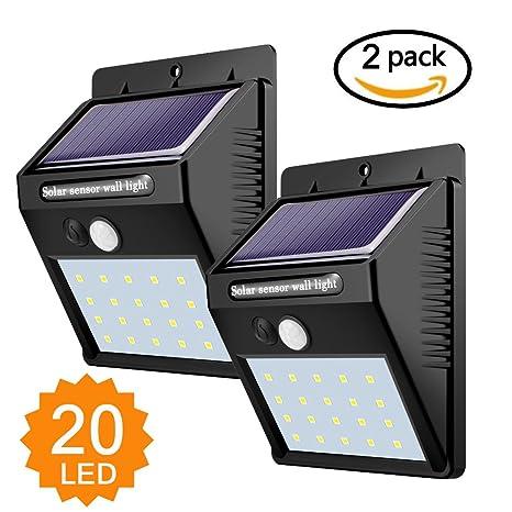 Lampade Solari Da Giardino Amazon.Luci Solari Lampade Solari Da Esterno 20 Led Con Sensore Di Movimento Illuminazione Solar Luce Solare Per Passerella Da Giardino Patio Patio Yard