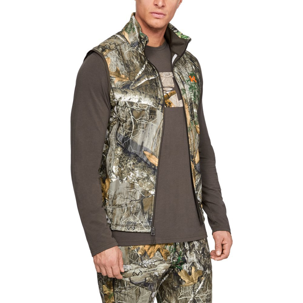 Under Armour Mens Zephyr Fleece Camo Vest