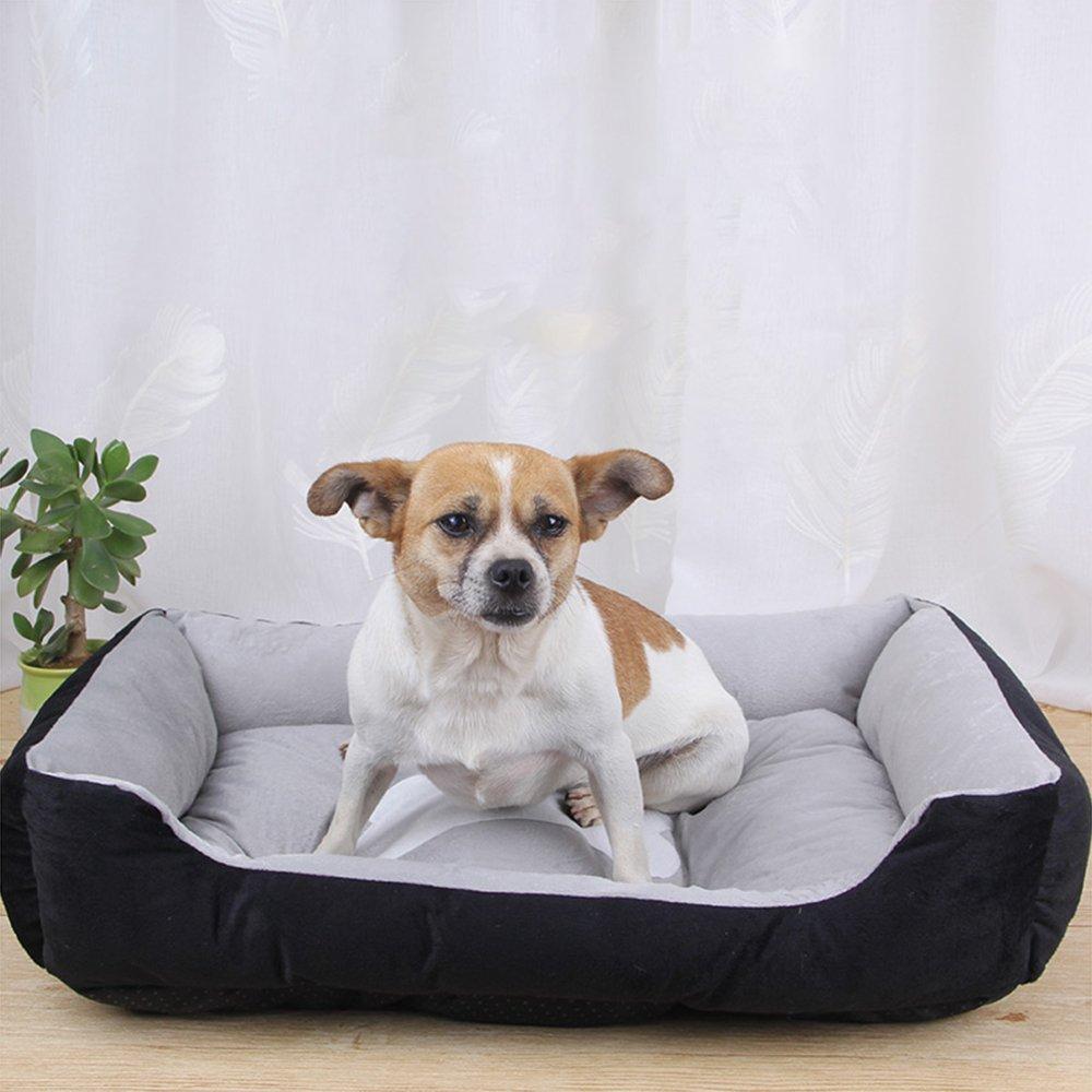 Cama para Perros Gatos Y Otros Animales Domésticos Pequeña Medio Grande, Lavable Cómodo Casa para Mascotas,Black,XL: Amazon.es: Hogar