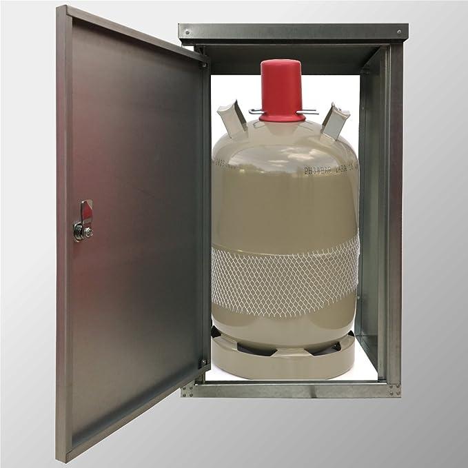 Werkstatt und Outdoor Srm-Design Gasflaschenschrank f/ür 11 kg Gasflaschen vollverzinkt f/ür Camping,Betrieb