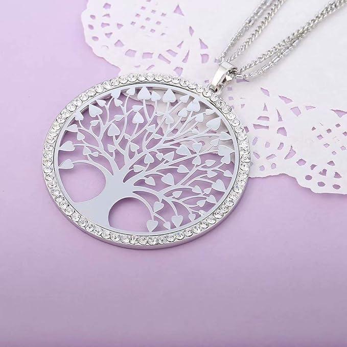 50a4135e46bbe5 DDLBiz Vintage Ladies' Necklace the Tree Glass Gem Pendant Long Chain  Blessing Necklaces: Amazon.co.uk: DIY & Tools