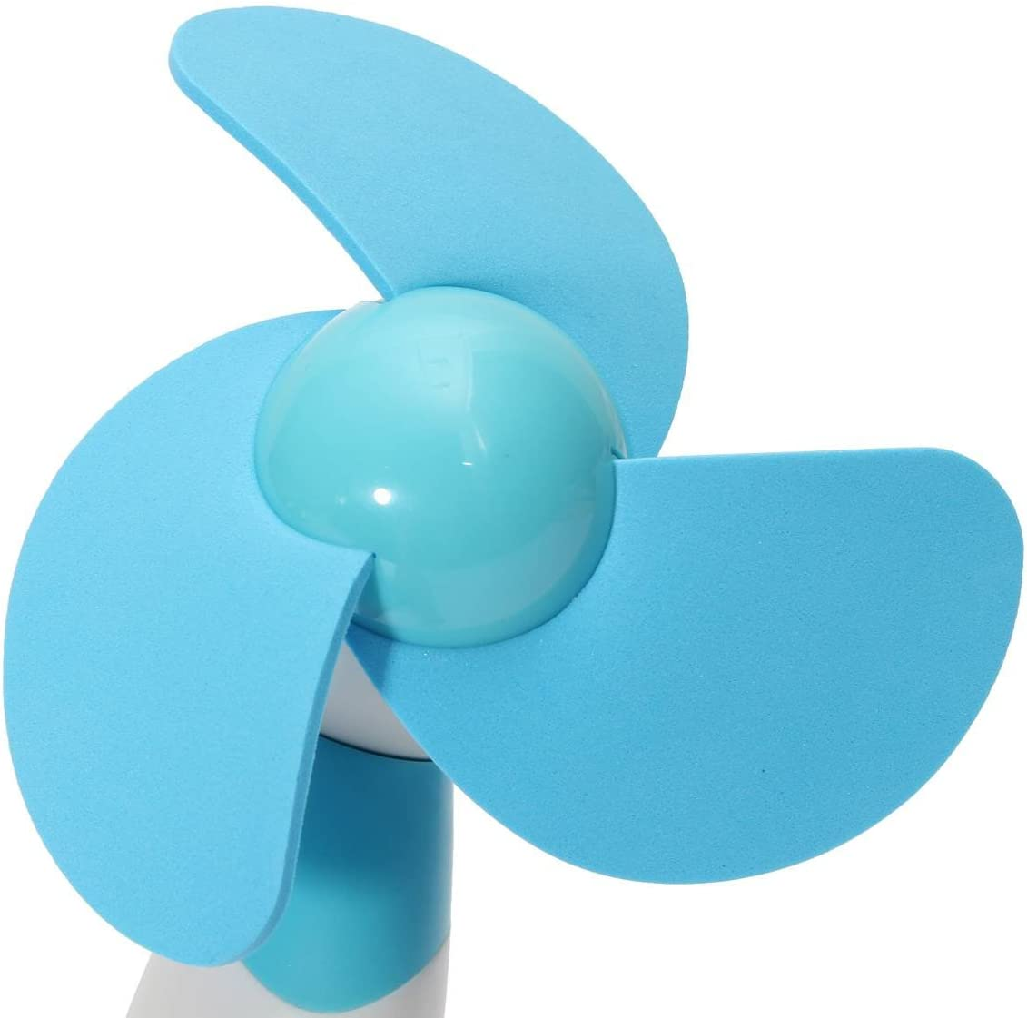KINGSO Portable Handheld Mini Cooling Cool Fan Super Mute Battery Operated Blue Blue