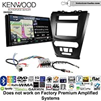 Volunteer Audio Kenwood Excelon DNX994S Double Din Radio Install Kit with GPS Navigation Apple CarPlay Android Auto Fits 2010-2012 Fusion (Black) (Not for factory amplified systems)