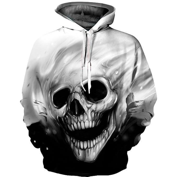 Amazon.com: sevem-d Nueva 3d Sudaderas con capucha Calaveras ...