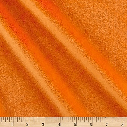 Fabric Solid Minky Plush Orange Yard