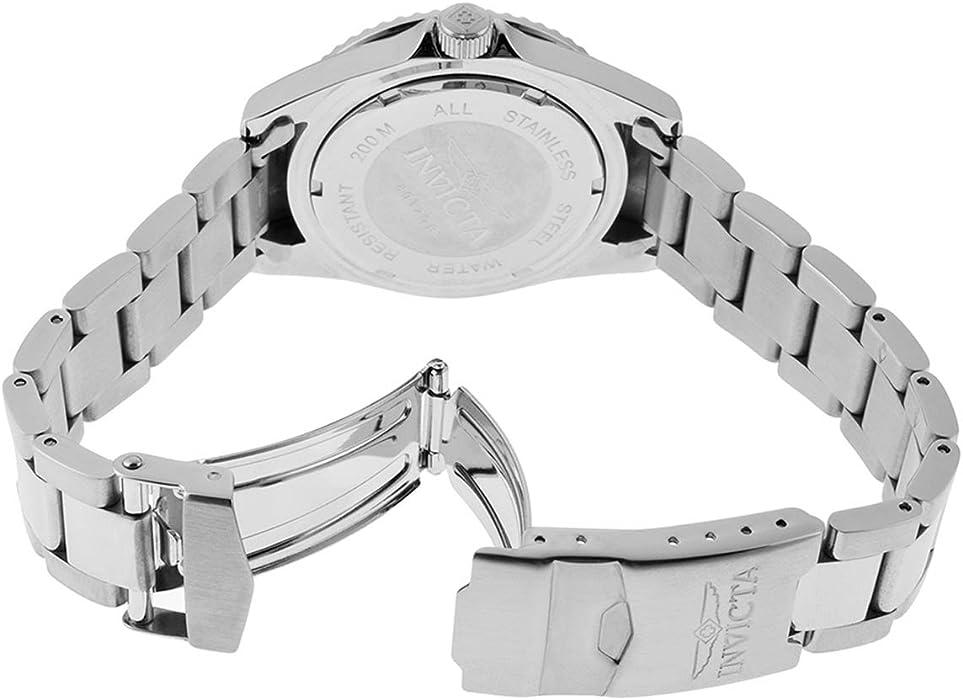 Invicta Men 8932OB Pro Diver Analog Quartz Silver Dial color  Black Stainless Steel Watch
