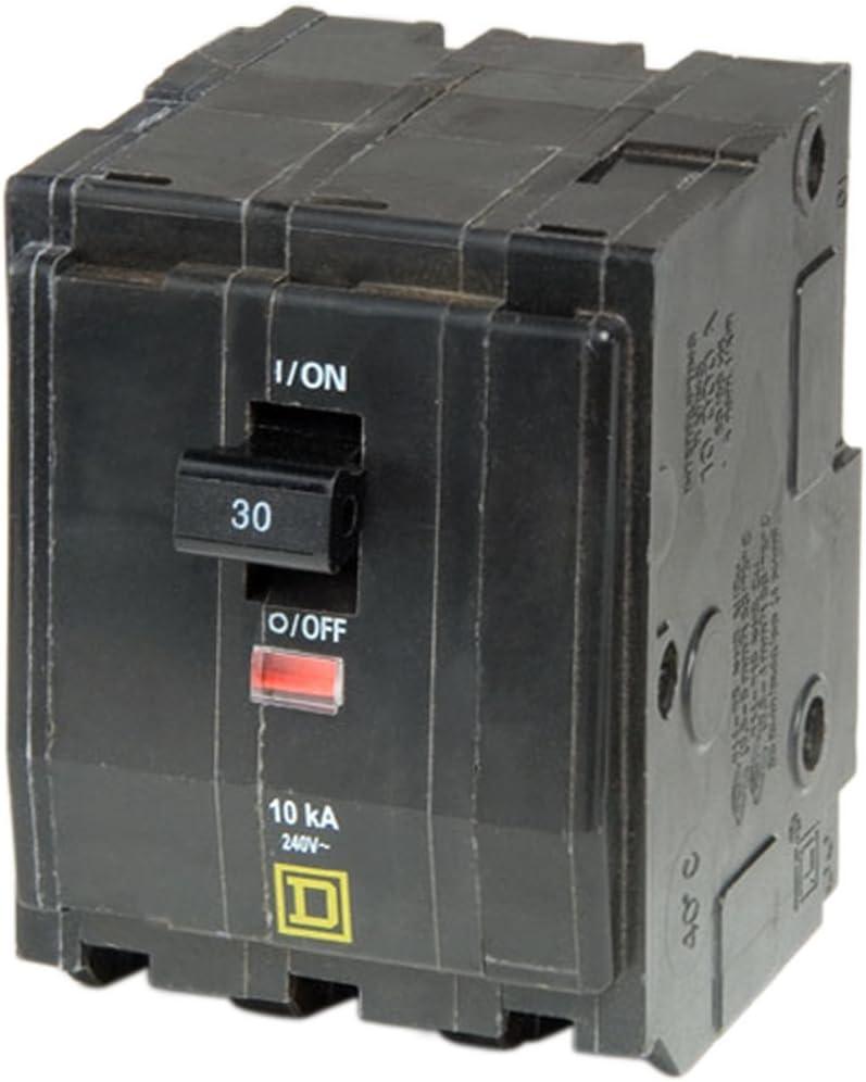 Square D QOB330 3 POLE 30 AMP 240 VOLT BOLT ON Circuit Breaker SQD SQ D
