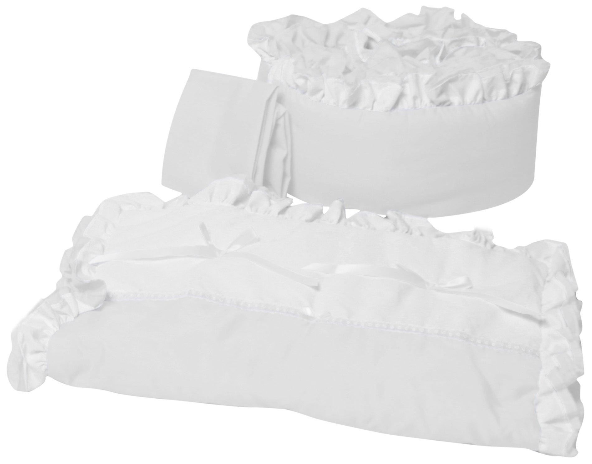 Baby Doll Bedding Regal Cradle Bedding Set, White by BabyDoll Bedding