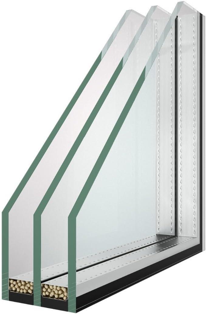nach Ihrem Wunschma/ß 3-Fach Verglasung 0,1 m/² Klarglas Glaspaket Fensterscheibe Isolierglas W/ärmeschutzglas 36mm