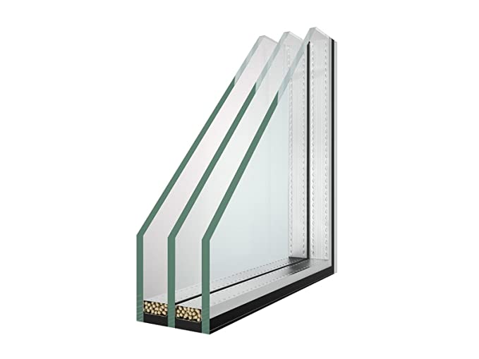 Isolierglas - Glaspaket - Klarglas - 3-Fach Verglasung ...