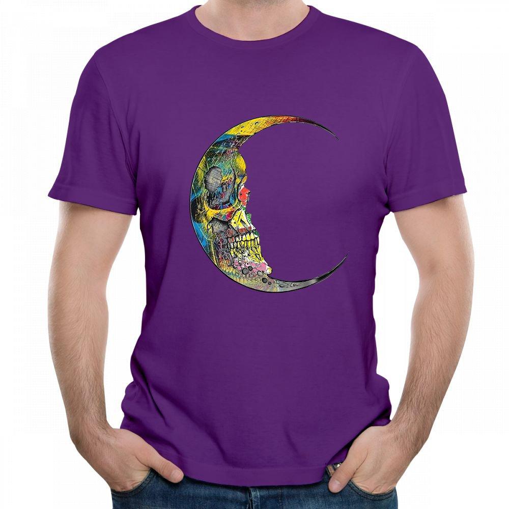 Jackdona S Moon Skull Face Creativity Graphic Summer Short T Shirt 5714