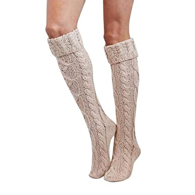 VJGOAL Mujer Otoño e Invierno moda casual Cálido Transpirable sexy Calcetines altos Muslo Alto sobre la