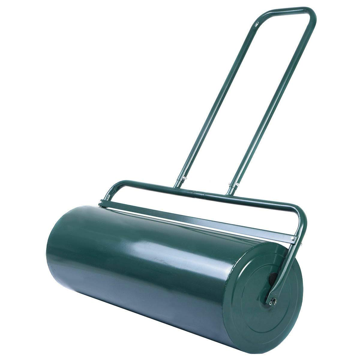 Goplus Lawn Roller Tow Behind Water Filled Poly Push for Garden, Green (12 by 36-Inch)