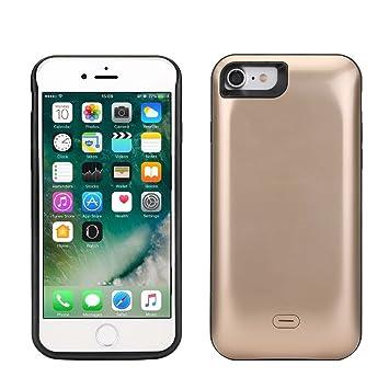 Funda Batería iphone 7, Lenuo Funda Protectora Cargador con Batería 5200mAh Carcasa Protectora Recargable para iPhone 7 4.7