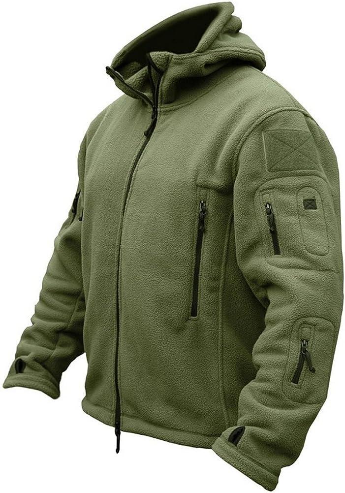 ReFire Gear Men's Warm Military Tactical Sport Fleece Hoodie Jacket: Clothing