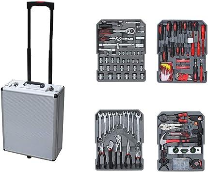 349 piezas. Caja de herramientas con ruedas y juego de ...