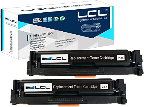 2pk Black CF400A 201A Toner Cartridge fit HP LaserJet Pro M252dw M277dw M277n