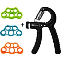 YSJ Hand Grip Strengthener Finger Stretcher Grip Strength Trainer Hand Resistance Bands for Arthritis Carpal Tunnel Exercise, Athletes, Pianists, Students, Mouse Hand