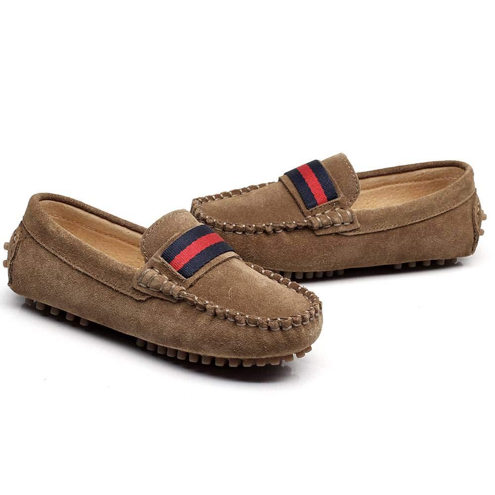 9fa4dba9373 Shenn Boys Girls Fashion Strap Slip-On Suede Leather Loafer Flats 2998  S2998 larger image