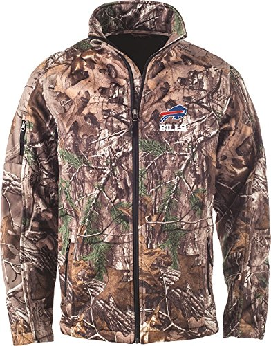 NFL Buffalo Bills Huntsman Softshell Jacket, Real Tree Camouflage, 3X