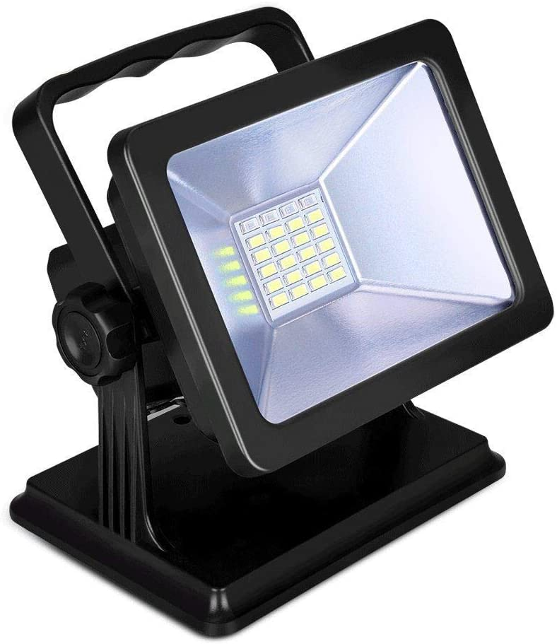 Black with Magnetic Base OYOCO Rechargeable LED Work Light COB with Magnetic Base 15W 6.5H Fathers Day Gifts Waterproof Spotlights Outdoor Camping Emergency Lights Floodlights with SOS Mode
