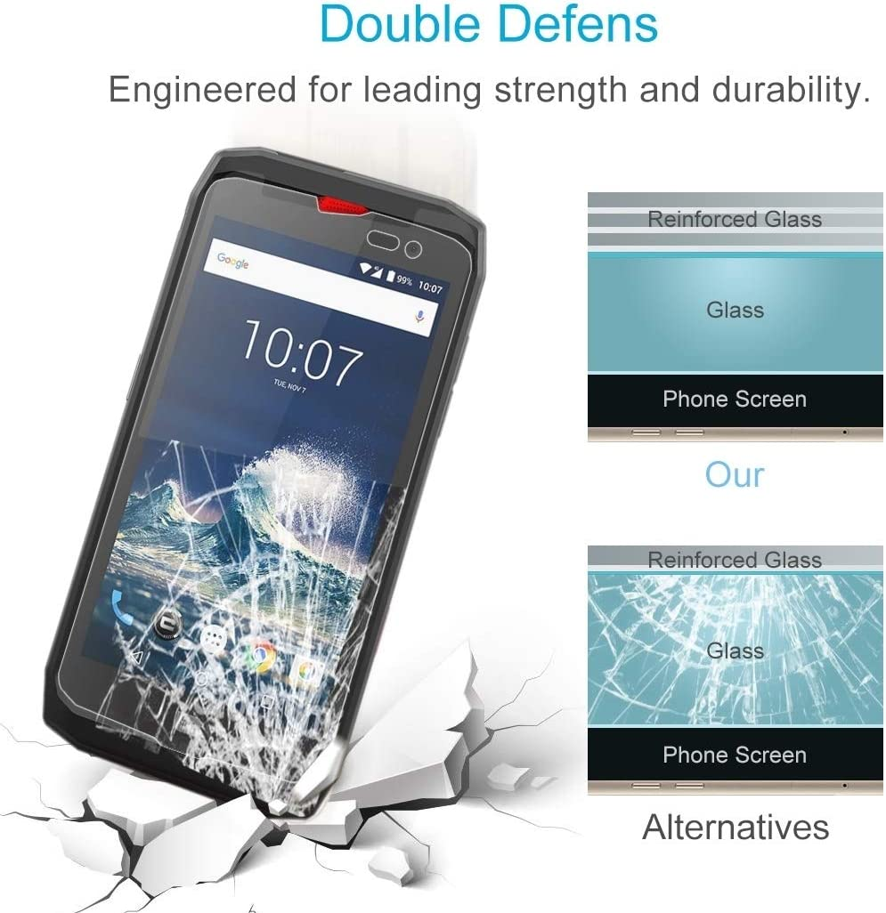 No Retail Package Lihuoxiu Phone Screen Protectors 100 PCS for Crosscall Action X3 0.3mm Tempered Glass Film