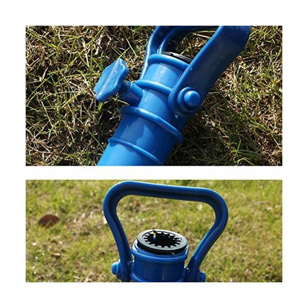 Yardwe 2Pezzi Picchetto di Supporto per ombrellone Mare Spiaggia in plastica Porta ombrellone da Spiaggia,Blu (16.5 x 7… 3 spesavip