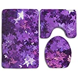 Stars Accessories Bathroom Rugs Set Super Absorbent Bathroom Rugs And Mats Mildew Lid Toilet Cover And Bath Mat