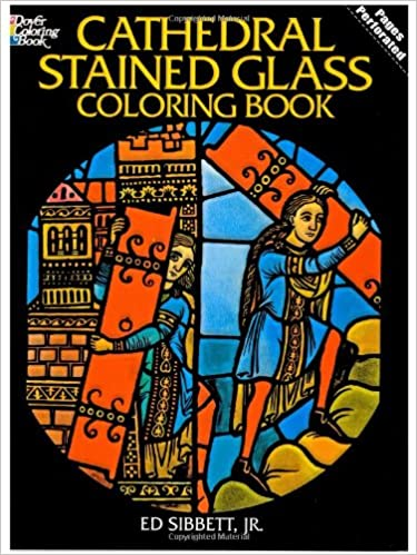victorian fashions stained glass coloring book dover stained glass coloring book