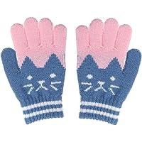 TENDYCOCO Kid Winter Knit Glove Guante de Lana de imitación Caliente para niño niña niño (Azul)