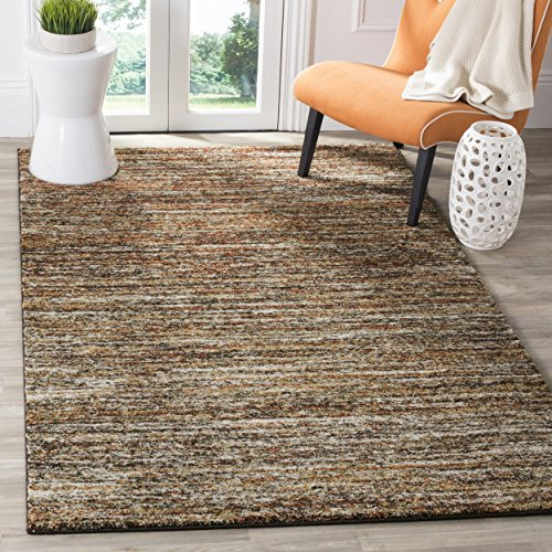Safavieh Retro Collection RET2133-1121 Ivory and Gold Area Rug (6' x (Casual Elegance Ivory Rectangular Rug)