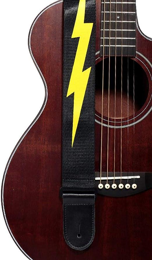 Correa de la Guitarra y Bajo Patrón rayo diseño adecuado de la ...