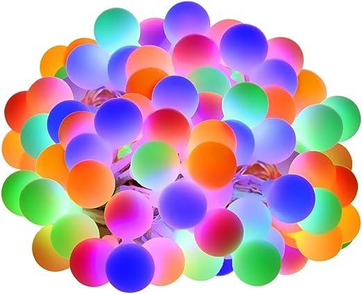 LE Guirnalda de Luces 10m 100 LED, Cadena de Luces 8 Modos de Luz, Multicolor Resistente al agua, Decoración de Bodas, Fiestas, Navidad etc.: Amazon.es: Iluminación