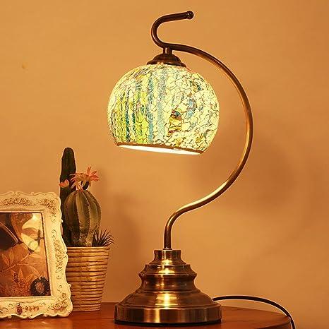 OOFWY LED E27 mesa lámpara creativo para dormitorio Living ...