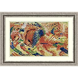 Framed Art Print 'The City Rises 1910-11' by Umberto Boccioni