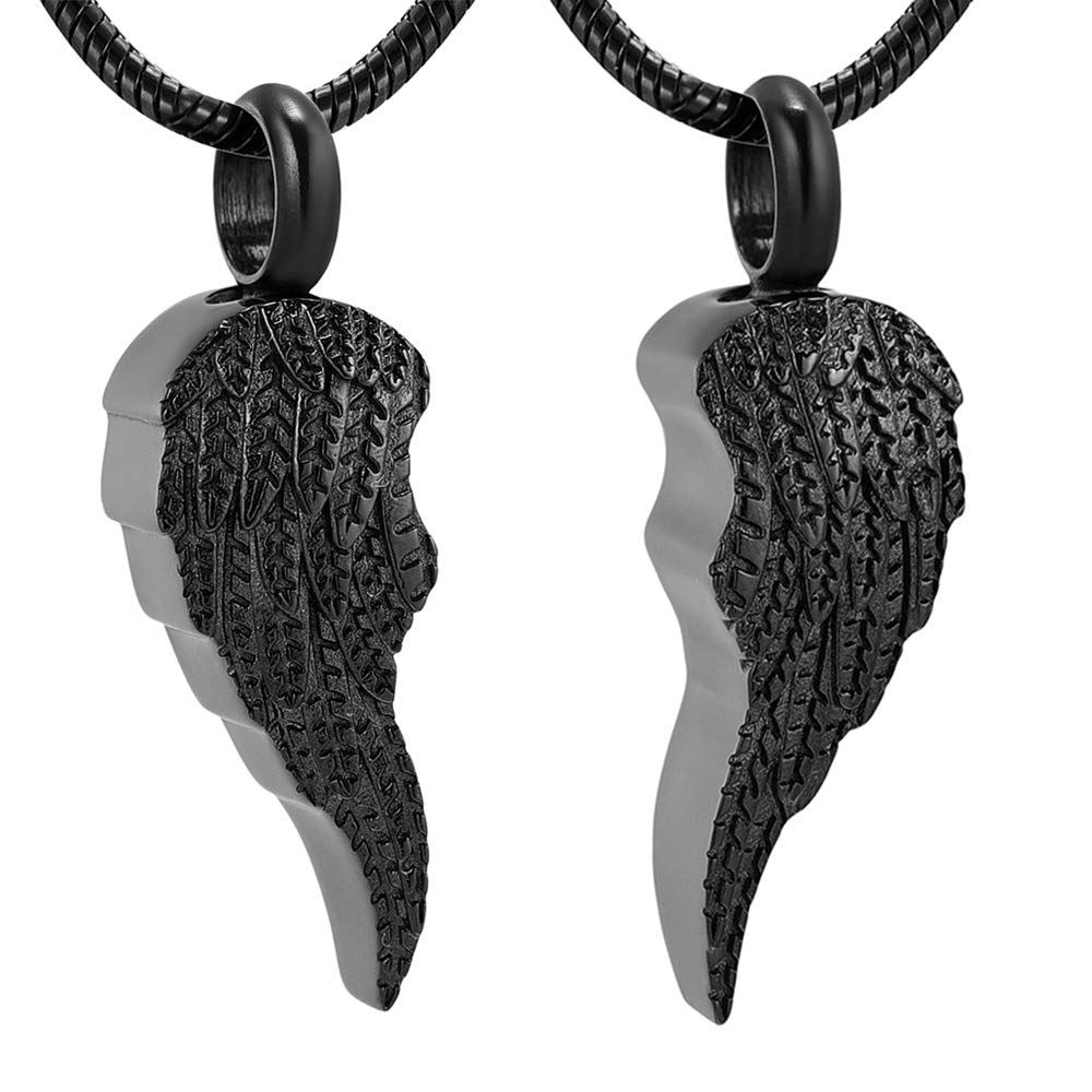 Angel Wings Cremation Jewelry for Ashes Keespsake Funeral Memorial Urn Necklace Pendant Ash Pet//Human