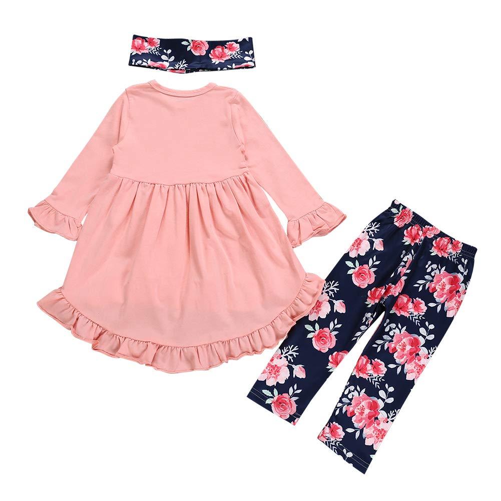 chinatera Kids Girls Christmas Outfits Clothes Set Skirts 3pcs Irregular Dress Legging Pants Scarf