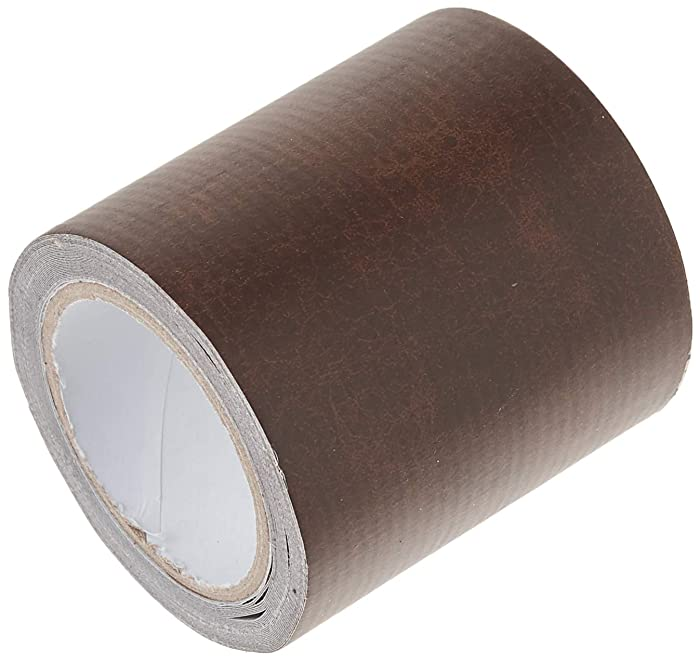 """Leather Repair Tape Patch Leather Adhesive for Sofas, Car Seats, Handbags, Jackets,First Aid Patch 2.4""""X15' (Brown Leather)"""