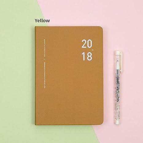 2018 ardium basic planner yellow 2018 diary planner scheduler organizer
