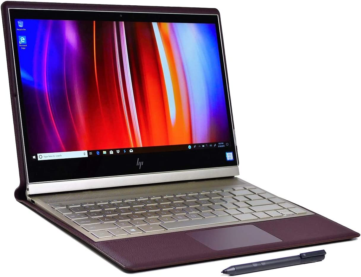 """Spectre Folio 2-in-1 13.3"""" 4K UHD (3840 x 2160) IPS Micro-Edge Touch-Screen Laptop Intel i7-8500Y up to 4.2GHz Active Pen Included Bordeaux Burgundy (512GB  16GB  4G XMM LTE Pro)"""