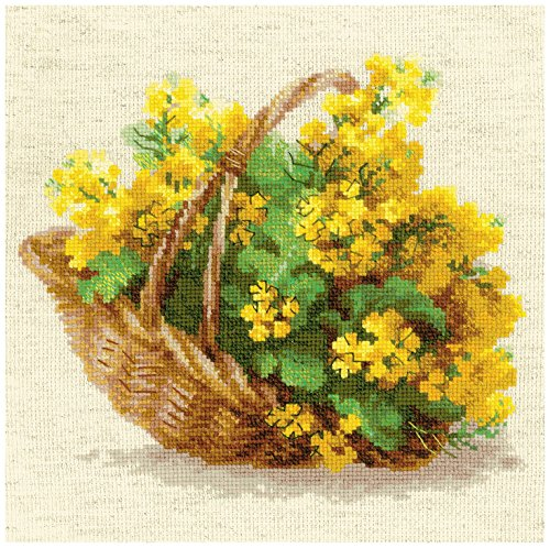 RIOLIS 14 Count Yellow Rapeseed Counted Cross Stitch Kit, 9.