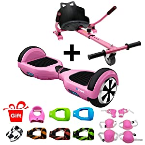 Hiboy Pack Patinete Rosa con Asiento Kart Rosa