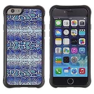 LASTONE PHONE CASE / Suave Silicona Caso Carcasa de Caucho Funda para Apple Iphone 6 / Blue Snake Pattern Fabric Textile Design