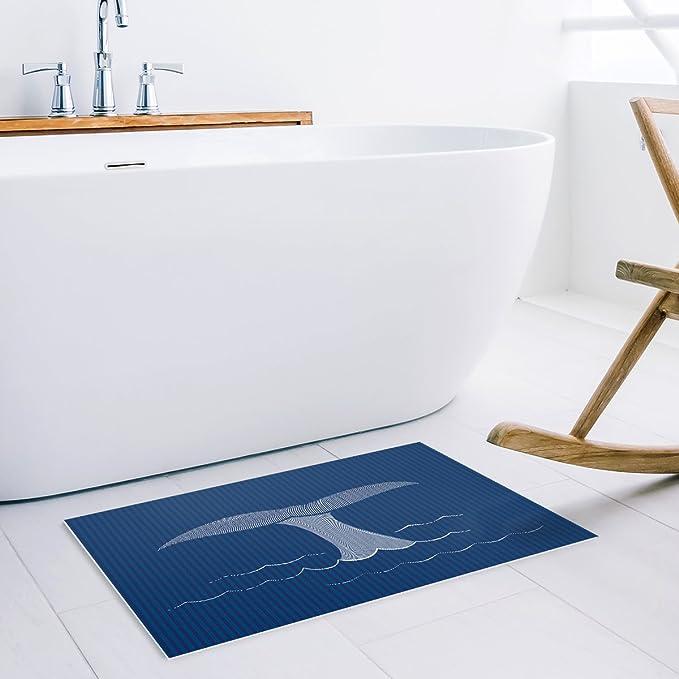 Libaoge Cartoon Whale in The Sea Blue Doormat Entrance Mat Indoor//Outdoor Door Mats Floor Mat Rug Mat TK-CRY-0685